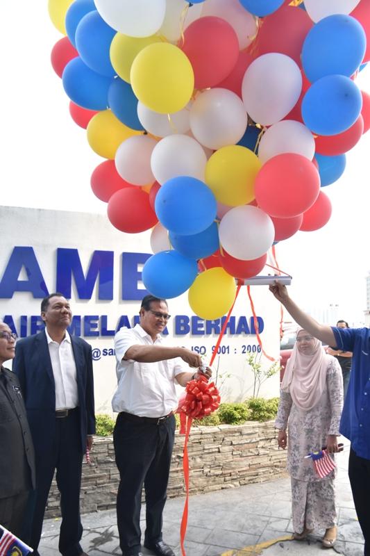 Perhimpunan Bulan Ogos & Pelancaran Jalur Gemilang Peringkat Syarikat Air Melaka Berhad.