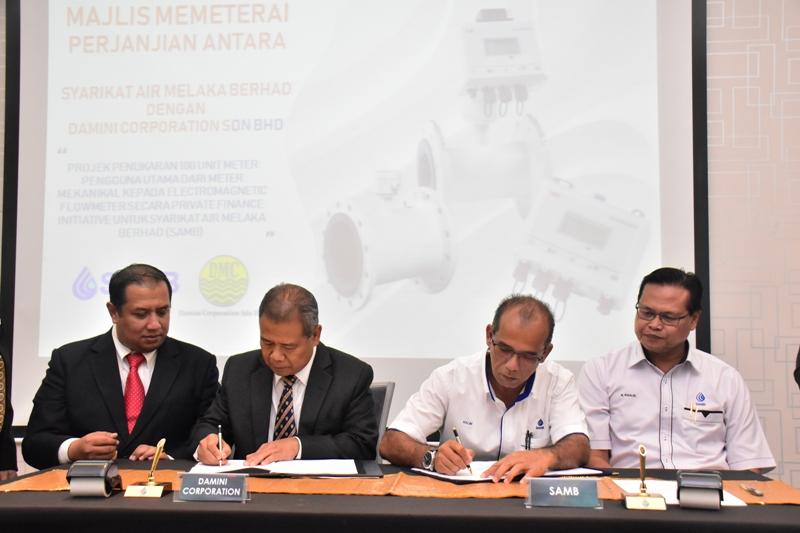 Majlis Lawatan Air Kelantan Sdn Bhd ke Syarikat Air Melaka Berhad.